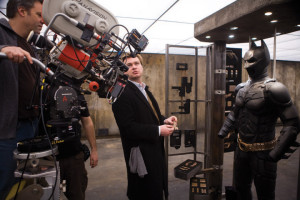 Christopher Nolan on set.